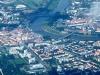 Letecký pohled na Drážďany