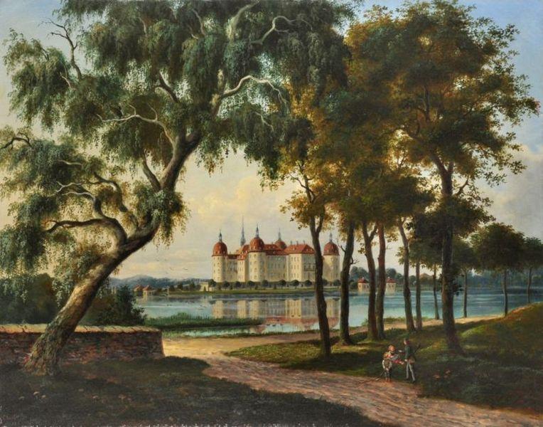 Zámek Moritzburg v roce 1882